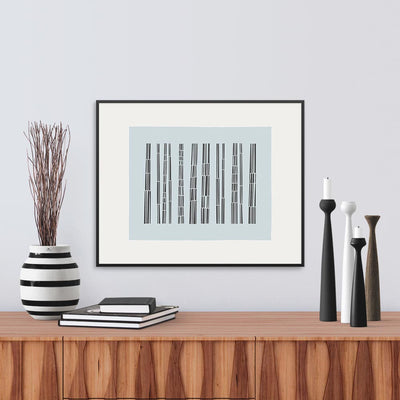 Framed View of Bark Song Ice Fine Art Print, by Janet Taylor | Household Art..