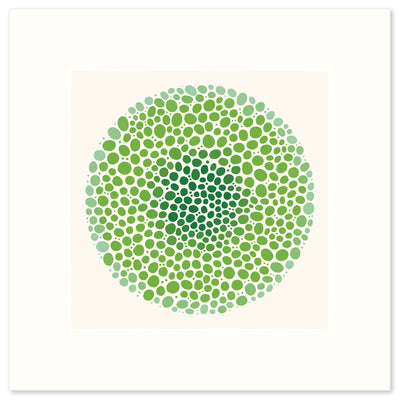 A vibrant graphic fine art print in shades of green, by Janet Taylor | Household Art.
