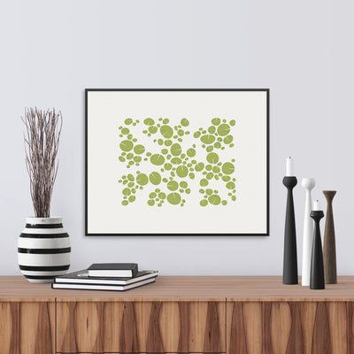 Framed view of Fractal, a fine art print of waterlilies. Limited Edition Archival print by Janet Taylor | Household Art.