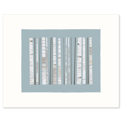 Graphic Fine Art print of a grove of birch trees by Janet Taylor | Household Art.