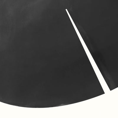 "Detail of ""Lily Leaf Graphic"", a black and white print based on the shape of a lily leaf by Janet Taylor 