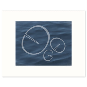 "Fine art print ""Memory"", based on the shape of a water lily leaf. Limited Edition Archival Print."