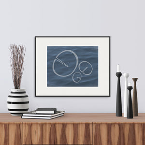 Modern graphic interpretation of the shape of a waterlily leaf. Archival fine art print.