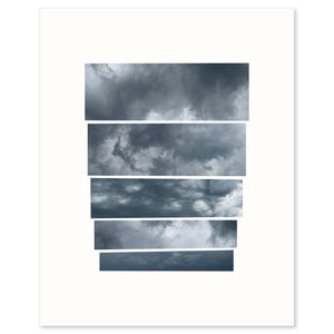 Graphic fine art capturing the mood of an oncoming storm.