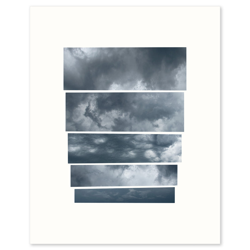 Graphic fine art capturing the mood of an oncoming storm, by Janet Taylor | Household Art..