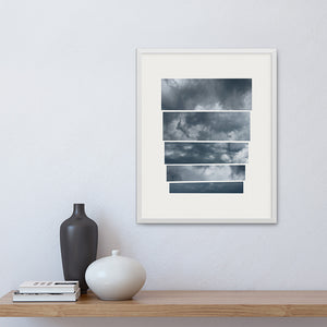 Fine art print 'Portent' framed on a wall.