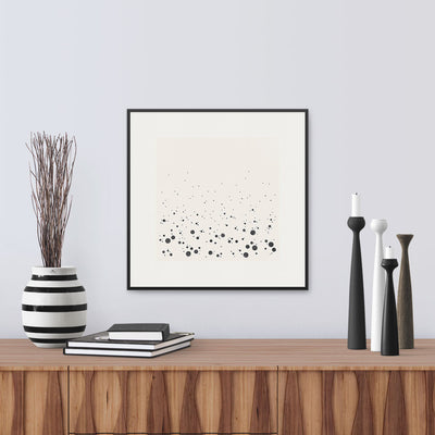 Framed version of 'Spray Graphic', a graphic abstract of the sea as it crashes into the shore. Limited Edition Print by Janet Taylor | Household Art.