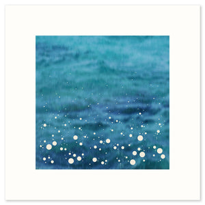 Modern limited edition print inspired by the spray shown up by the sea as it crashes into the shore.