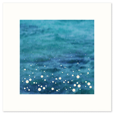 'Spray', a modern print Inspired by the spray shown up by the sea as it crashes into the shore, by Janet Taylor | Household Art.