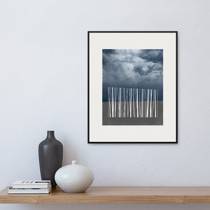 Limited Edition 'Stand' print, framed on a wall