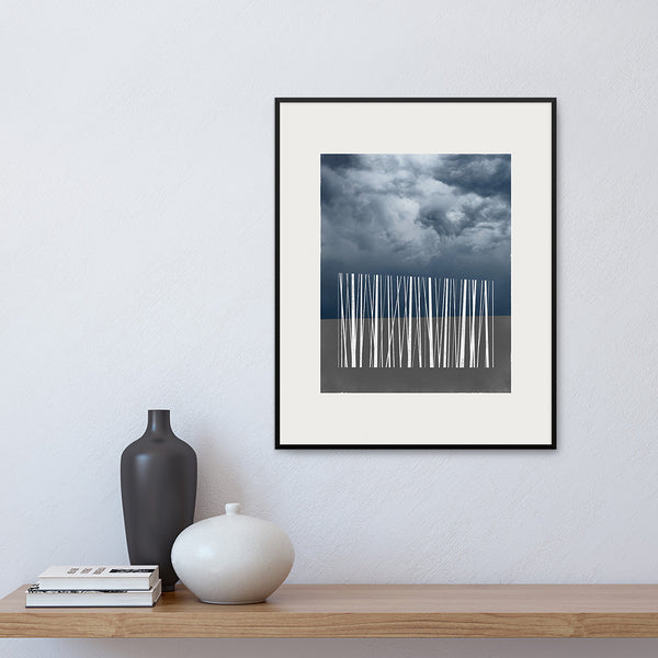 Limited Edition 'Stand' print, framed on a wall, by Janet Taylor | Household Art.
