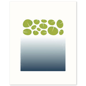 "Limited edition print ""surface"", based on the depths of a lily pond. Limited Edition Archival Art Print."