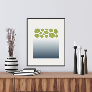 A graphic interpretation of the depths of a lily pond. Limited Edition Print