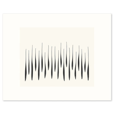 'Thicket', a graphic abstraction of growing branches in spring. Limited Edition Print by Janet Taylor | Household Art..