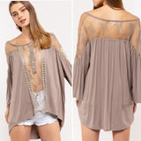 Lily Sweet Sheer Lace Boho Top