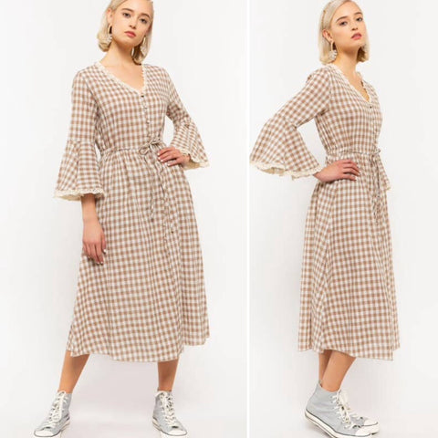 Sara Sweet Vintage Inspired Gingham Dress
