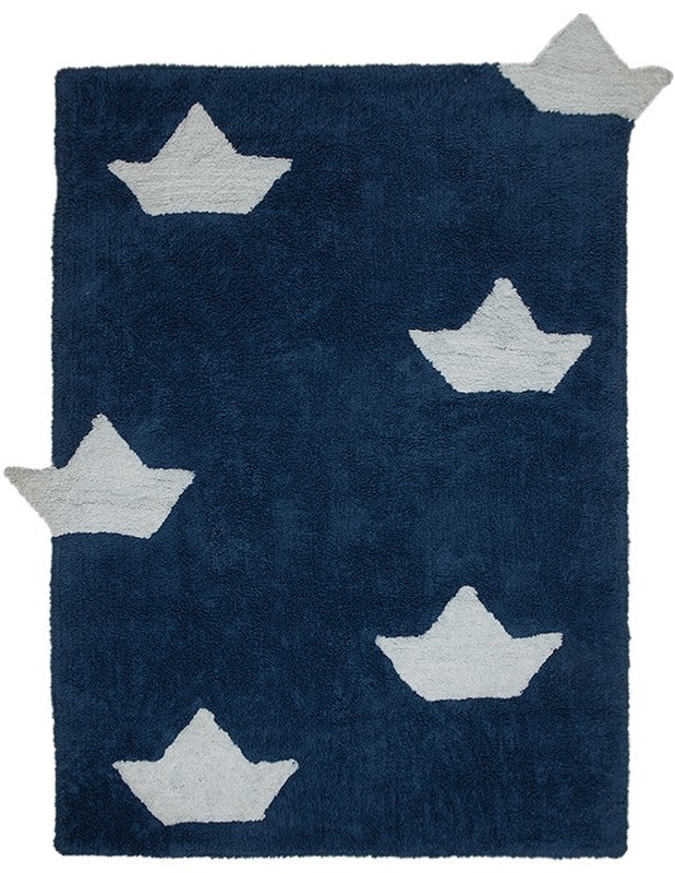 Lorena Canals Boats Navy Washable Rug