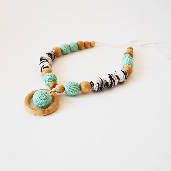 Crochet Baby Teething Necklace