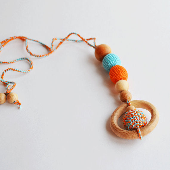Crochet Baby Teething Bling Necklace