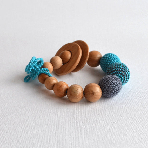 Crochet Nursing Bracelet with Teething Rings