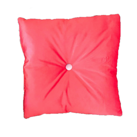 'Poppy Rooster' Velvet cushion