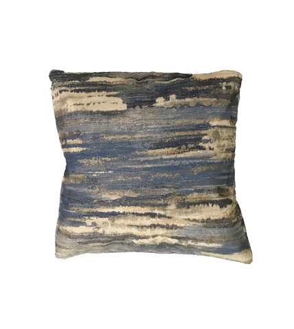 'Altered Landscape Cobalt' cushion