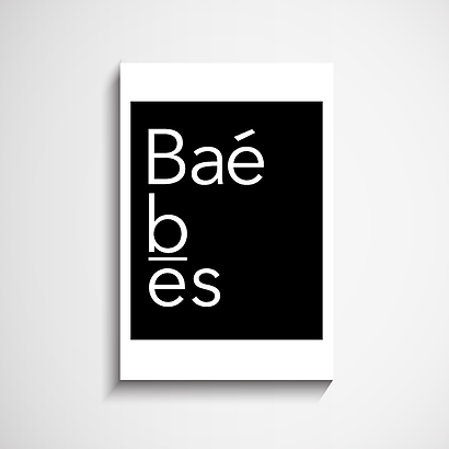 Baé Type wall art print