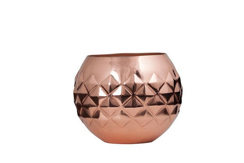 Copper Diamond Votive