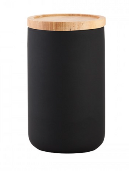 Tall Canister Matt Black