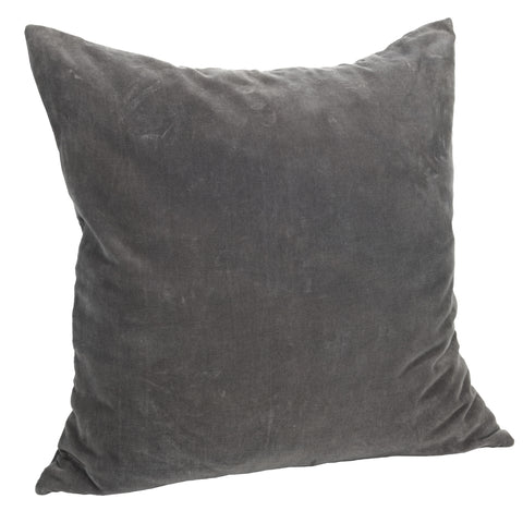 Velvet Cushion Cover - Dark Grey