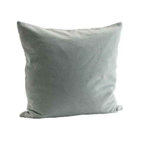Velvet Cushion Cover -Light Green