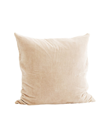 Velvet Cushion Cover - Nude