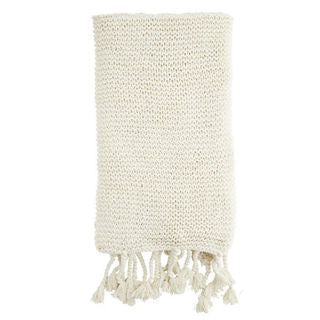 Knitted Throw - White