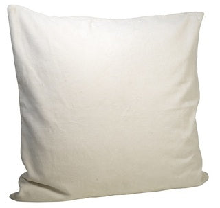 Velvet Cushion over - off-white