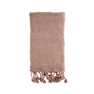 Knitted Throw - Dusty Rose