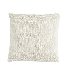 XL Knit Floor Cushion - White w/inner