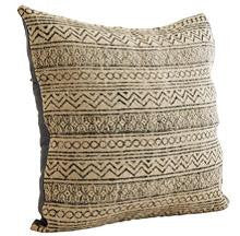 Printed Cushion Cover- Natural/black