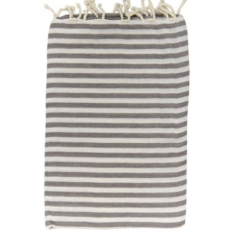 Turkish Bath Towel - Grey Stripe