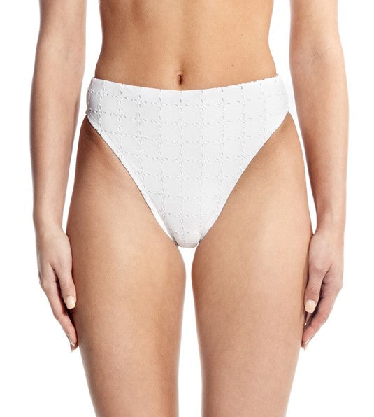 HEATHER BOTTOM - WHITE EYELET