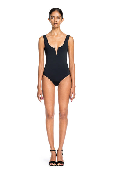 Ines One Piece - Black <div>TANK ONE PC STYLE WITH V WIRE FRONT</div>