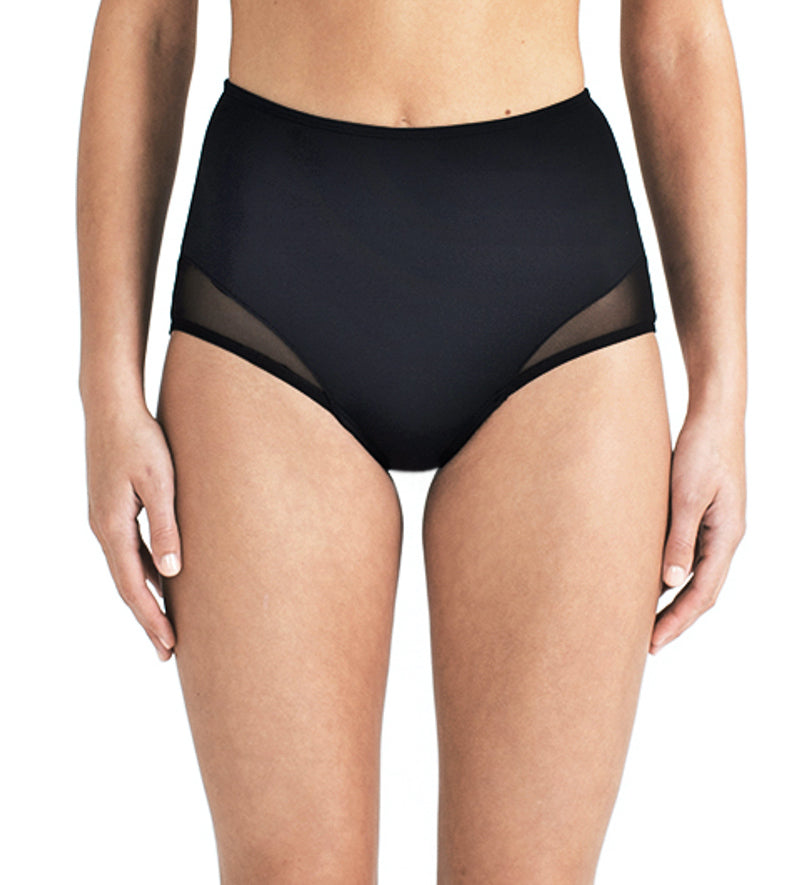 HIGH WAIST BOTTOM - BLACK MESH