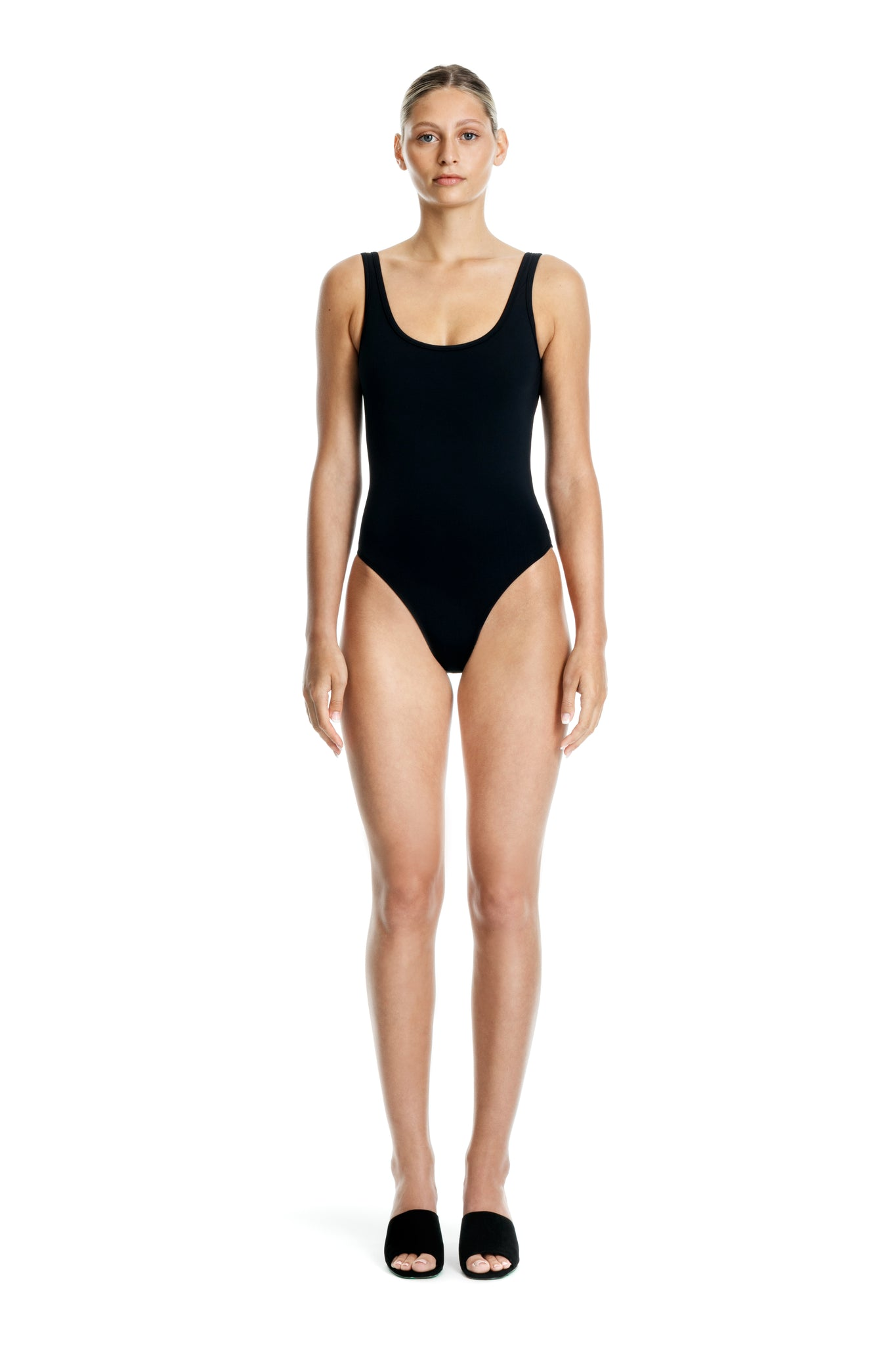 TIE TANK ONE PIECE - BLACK - Beth Richards