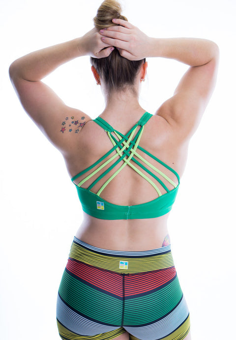 Impact Bra (Green and Pistacio)