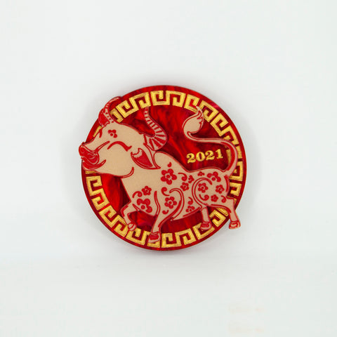 Lunar New Year: Year of the Ox Brooch