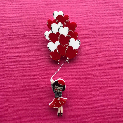Balloon Girl brooch