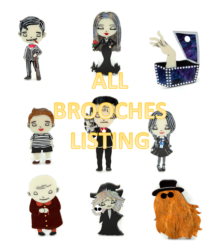 All Addams Family Brooches