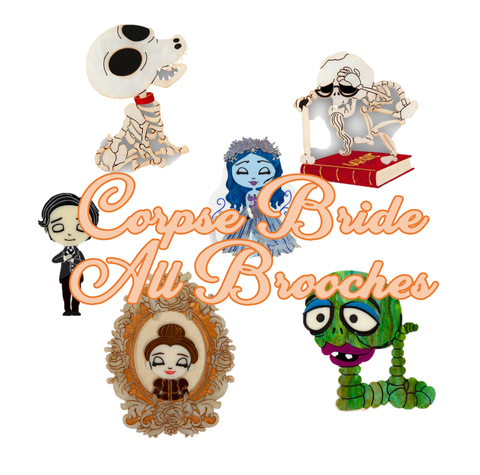 Corpse Bride All Brooches Listing