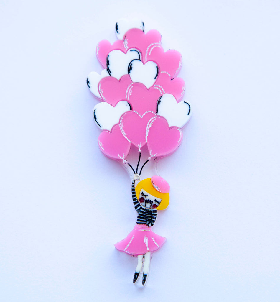 Balloon Girl 20' Brooch