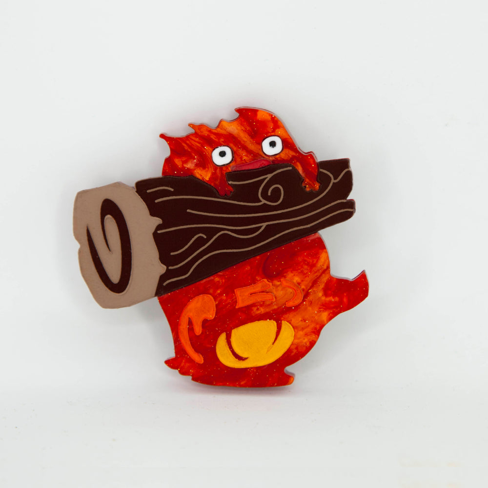 Calcifer Brooch
