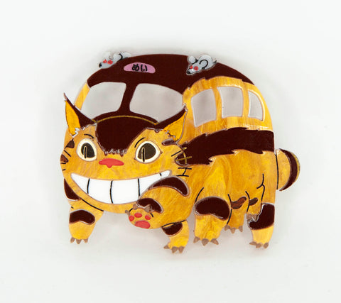 Cat Bus Brooch